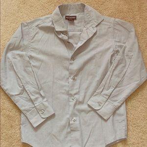 BOYS - DOCKERS Gray Stripe Dress Shirt - Size 8